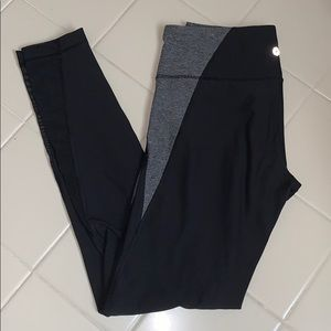 90 Degree By Reflex Black & Gray Leggings